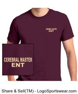 NEW CEREBRAL MASTER ENTERTAINMENT MAROON SHIRTS Design Zoom